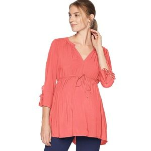 Motherhood maternity blouse with sleeve detail (M)